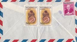 NICARAGUA :  Divers PA  Antiquités Indigènes Et Churchill Sur Lettre Pour La France - Nicaragua