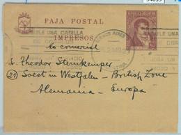 94035 - ARGENTINA - POSTAL HISTORY - STATIONERY WRAPPER To GERMANY  1949 - Ganzsachen