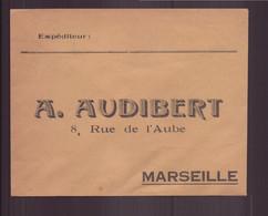 """Enveloppe à En-tête """" Audibert """" à Marseille - Sin Clasificación"""