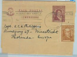 94036 - ARGENTINA - POSTAL HISTORY - STATIONERY WRAPPER + Franking To NETHERLAND - Ganzsachen
