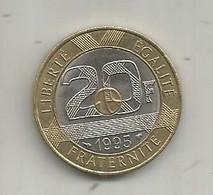 Monnaie,France ,  20 Francs MONT SAINT MICHEL ,  1995 - L. 20 Francs
