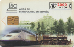 Telefónica De España : 150 Ans Chemin De Fer En Espagne 1848-1998 - Trenes