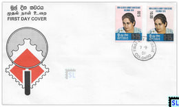 Sri Lanka Stamps 2001, Non-Aligned Summit, Sirimavo, SURCHARGE, FDC - Sri Lanka (Ceylon) (1948-...)