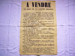 Affiche Vente Domaine D'Abeau Commune De Malbosc Ardèche 32 X 50 Cm - Manifesti