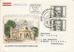 SUISSE LETTRE FDC 198 ROBERT HAMMERLING POUR LA FRANCE - 1971-80 Cartas