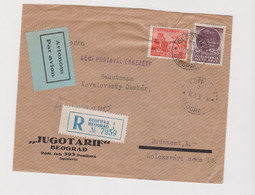 YUGOSLAVIA,1936 BEOGRAD Nice Registered Airmail Cover To Hungary - Brieven En Documenten