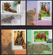Romania 2020 Set 4 V MNH Brown Bears Bear Ours - Bears