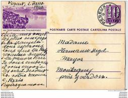 """10-59 - Entier Postal Avec Illustration """"Hilterfingen"""" - Cachet à Date De Peseux 1940 - Entiers Postaux"""