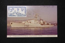 T.A.A.F. - Carte Maximum En 1980 - Bateau De Guerre - L 90213 - Briefe U. Dokumente
