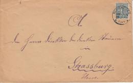Env Affr Y&T 130 Obl REICHWEILER / (OBERELS) Du 28.2.19 Adressée à Strasbourg - Alsace Lorraine