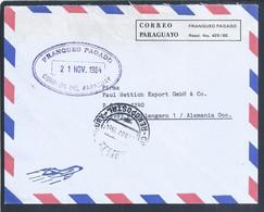 Carta De La Cámara Comercio De Paraguayo Alemania Con Portes Pagados. Letter Chamber Commerce Paraguayo Germany Pt Paid - Paraguay