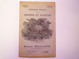 GP 2021 - 79  CATALOGUE  1924  Maison BOUILLATON  Lyon  GRAINES Et PLANTES  XXX - Non Classificati