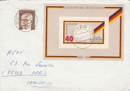 ALLEMAGNE RFA AFFRANCHISSEMENT COMPOSE SUR LETTRE POUR LA FRANCE 1974 - Cartas