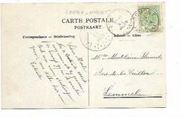 SH 0838. N° 83 WERBOMONT 21 JUIN 1911 S/CP V. LOMMEL + AMBULANT LANDEN-HASSELT. NIPA = 80. RARE - Ambulants
