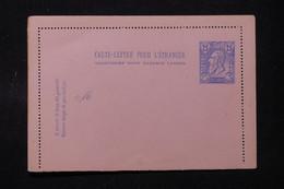 BELGIQUE - Entier Postal ( Carte Lettre ) Pour L 'Etranger Non Circulé - L 90226 - Letter-Cards