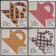 U.S. 1329-1332 (complete Issue) Unmounted Mint / Never Hinged 1978 American Folk-Steppdecke - Neufs
