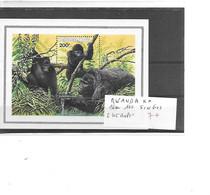 RWANDA N° BLOC 100 SINGES - Monkeys