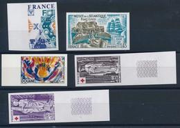 "DX-682: FRANCE: Lot Avec ""NON DENTELES"" ** N°1909-1910/11-1912-1913 - Imperforates"