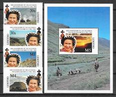 Lesotho N° 1013/16 Bloc 91 YVERT NEUF * - Lesotho (1966-...)