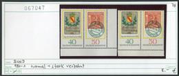 Bundesrepublik Deutschland - Germany - Allemagne  - Michel 980-981 Normal + Verzahnt / Décalage -  ** Mnh Neuf Postfris - Variétés