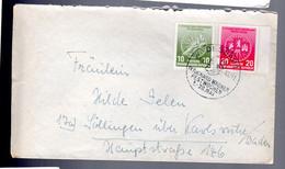 DDR 1956 Internationale Radfernfahrt Fur Den Freiden Warschau - Berlin - Prag (Wagner Festwochen Dessau) - Cartas