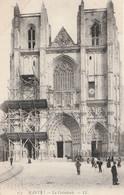 NANTES. - La Cathédrale . Echafaudage.  CPA - Nantes