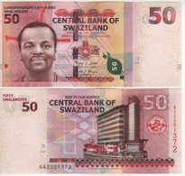 """SWAZILAND-eSWATINI    50  Emalangeni  P38   6.9.2010   """"Hybrid""""    UNC - Swaziland"""