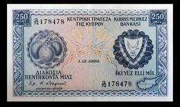 # # # Banknote Zypern (Cyprus) 250 Mils 1980 AU # # # - Cyprus