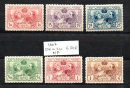 ESPAGNE 236 / 241 1907 COTE 50 €  Lot N° 179 - Nuevos