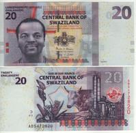 """SWAZILAND-eSWATINI    20  Emalangeni  P37c   6.9.2017   """"Hybrid""""    UNC - Swaziland"""
