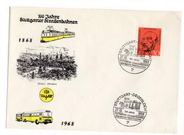 Deutsche Bundespost  100 Jahre Stuttgarter Strassenbahnen 1968 - Sin Clasificación