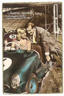 Cpa Fantaisie, Manège, Circuit Automobile , Couple   ( AU ) - Andere