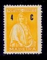 ! ! Madeira - 1929 Ceres 04 C - Af. 42 - No Gum - Madeira