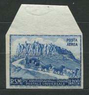 San Marino - 1951 Anniversario UPU Non Dentellato MNH** - Nuovi