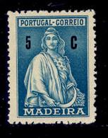 ! ! Madeira - 1929 Ceres 05 C - Af. 43 - MH - Madeira
