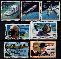 USA 1990-93, Scott C114 C115 C122 C123 C125 C128 C129, Used, Air Mail - 3a. 1961-… Usados