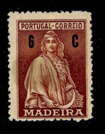 ! ! Madeira - 1929 Ceres 06 C - Af. 44 - MH - Madeira