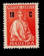 ! ! Madeira - 1929 Ceres 10 C - Af. 45 - No Gum - Madeira