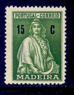 ! ! Madeira - 1929 Ceres 15 C - Af. 46 - MH - Madeira