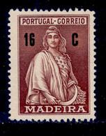 ! ! Madeira - 1929 Ceres 16 C - Af. 47 - No Gum - Madeira