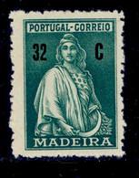 ! ! Madeira - 1929 Ceres 32 C - Af. 49 - No Gum - Madeira