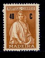 ! ! Madeira - 1929 Ceres 40 C - Af. 50 - No Gum - Madeira