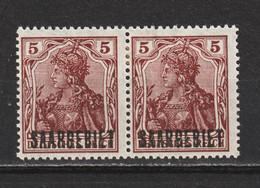 Saar MiNr. 44 * Aufdruck Abklatsch  (sab19) - Unused Stamps