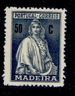 ! ! Madeira - 1929 Ceres 50 C - Af. 51 - No Gum - Madeira
