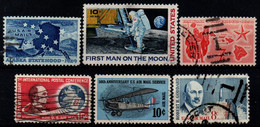 USA 1959-69, Scott C53 C55 C66 C69 C74 C76, Used, Air Mail - 3a. 1961-… Usados