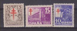 Año 1947 Edifil 1017 A 1019 Serie Pro Tuberculosos - 1931-50 Unused Stamps