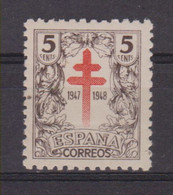 Año 1947 Edifil 1017  Pro Tuberculosos - 1931-50 Unused Stamps