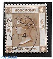 Hong Kong 1863 2c Brown, Used, (Used Stamps) - Gebraucht