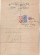 DOCUMENTO STATO DI SAN PAOLO - BRASILE. CIN MARCA AFFARI ESTERI SOVRASTAMPA LIRE 3,75 - Historical Documents