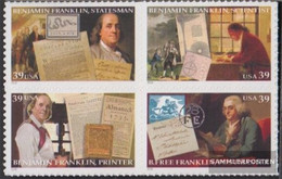 U.S. 4065-4068 Block Of Four (complete Issue) Unmounted Mint / Never Hinged 2006 Franklin - Nuevos